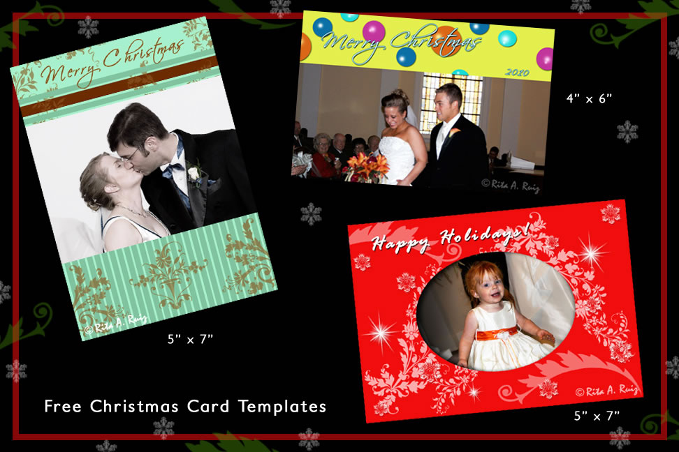 Christmas Card Templates Rtcritas Blog - Free christmas card templates for photographers