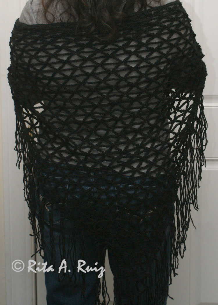 ... crocheted crocheted black fringed shawl crocheted shawl fringed shawl